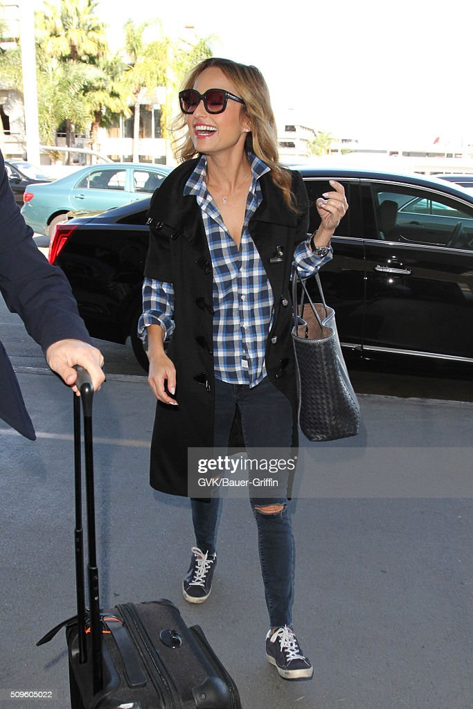 Giada de Laurentiis is seen at LAX on February 11, 2016 in Los Angeles, California.