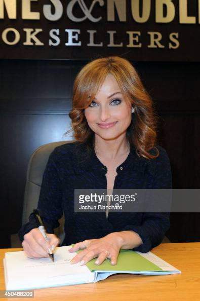 Giada De Laurentiis signs copies of her book 'Giada's Feel Good Food' at Barnes Noble bookstore at The Grove on November 18 2013 in Los Angeles...