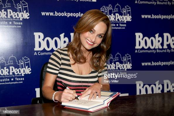 Giada De Laurentiis signs copies of her new cookbook 'Recipe For Adventure' at Book People on September 11 2013 in Austin Texas