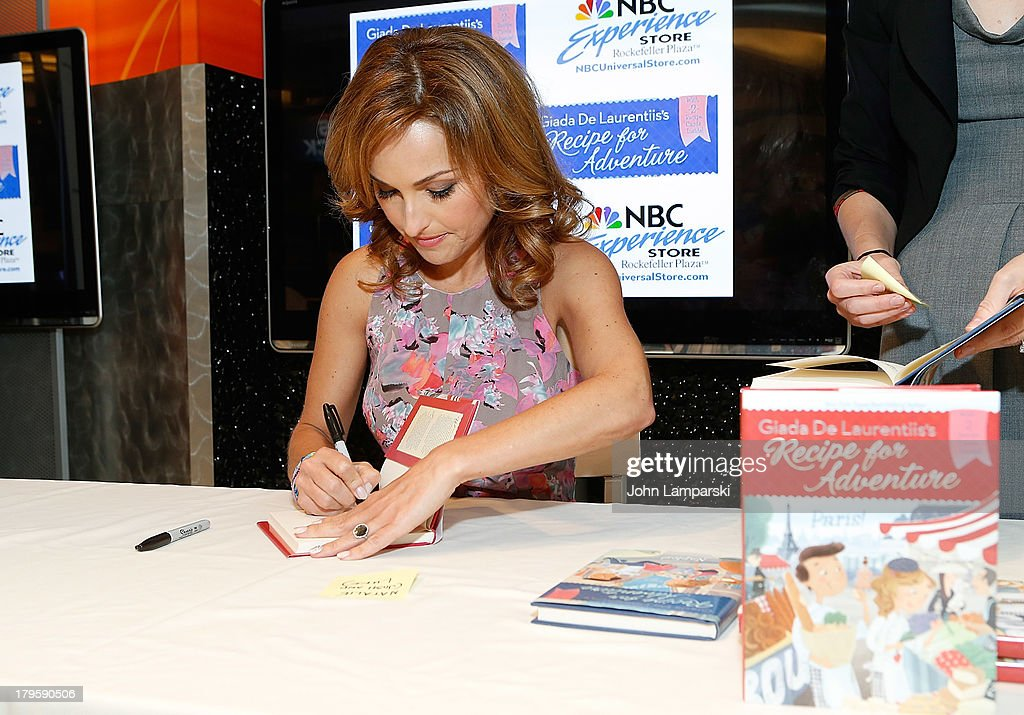 <a gi-track='captionPersonalityLinkClicked' href=/galleries/search?phrase=Giada+De+Laurentiis&family=editorial&specificpeople=601210 ng-click='$event.stopPropagation()'>Giada De Laurentiis</a> visits the NBC Experience Store on September 5, 2013 in New York City.
