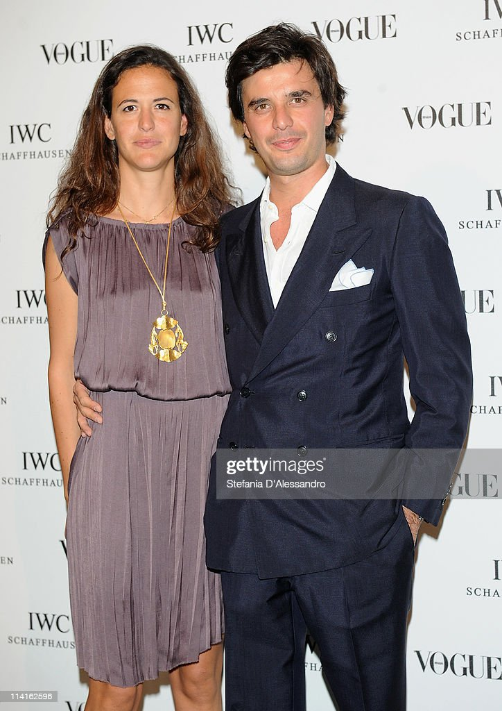 Giada Tronchetti Provera and Carlo Moseda attend Vogue and IWC present 'Peter Lindbergh's Portofino'at 10 Corso Como on May 12, 2011 in Milan, Italy.