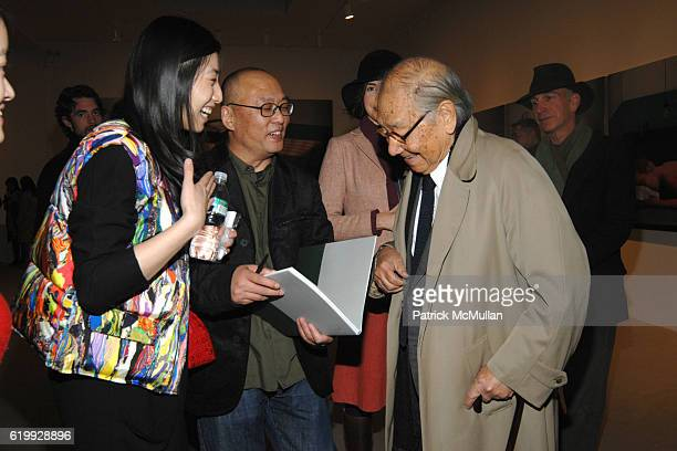 Giagia Se Zhang Xiaogang and Ieoh Ming Pei attend PaceWildenstein Opening of 'Revision' by ZHANG XIAOGANG at PaceWildenstein on October 30 2008 in...