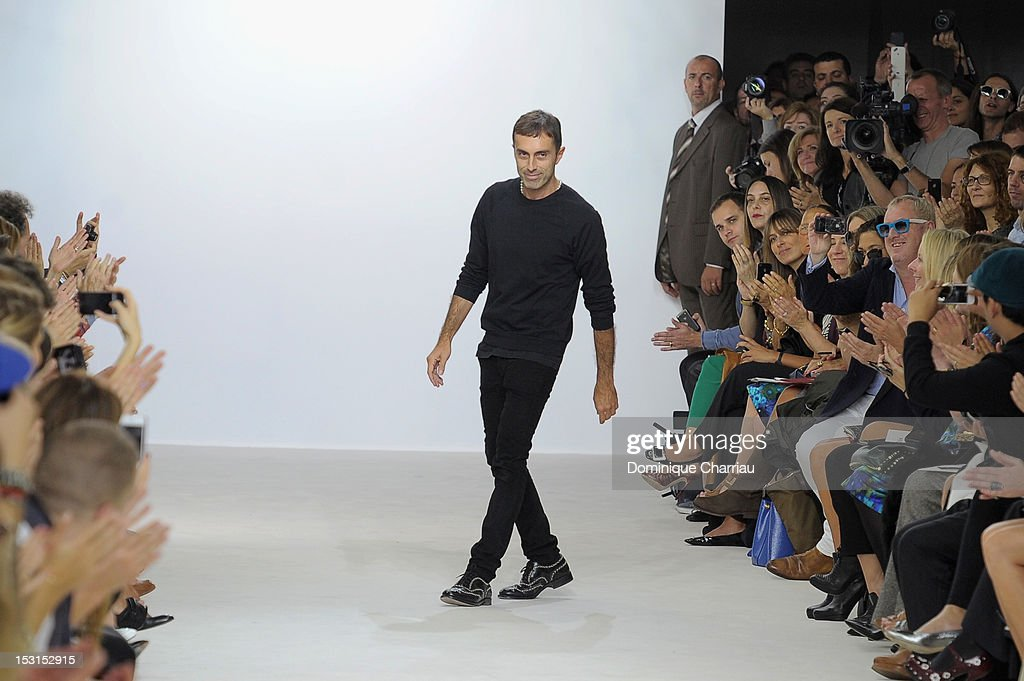 Giambattista Vali walks the runway at the Giambattista Valli Spring / Summer 2013 show as part of Paris Fashion Week on October 1, 2012 in Paris, France.