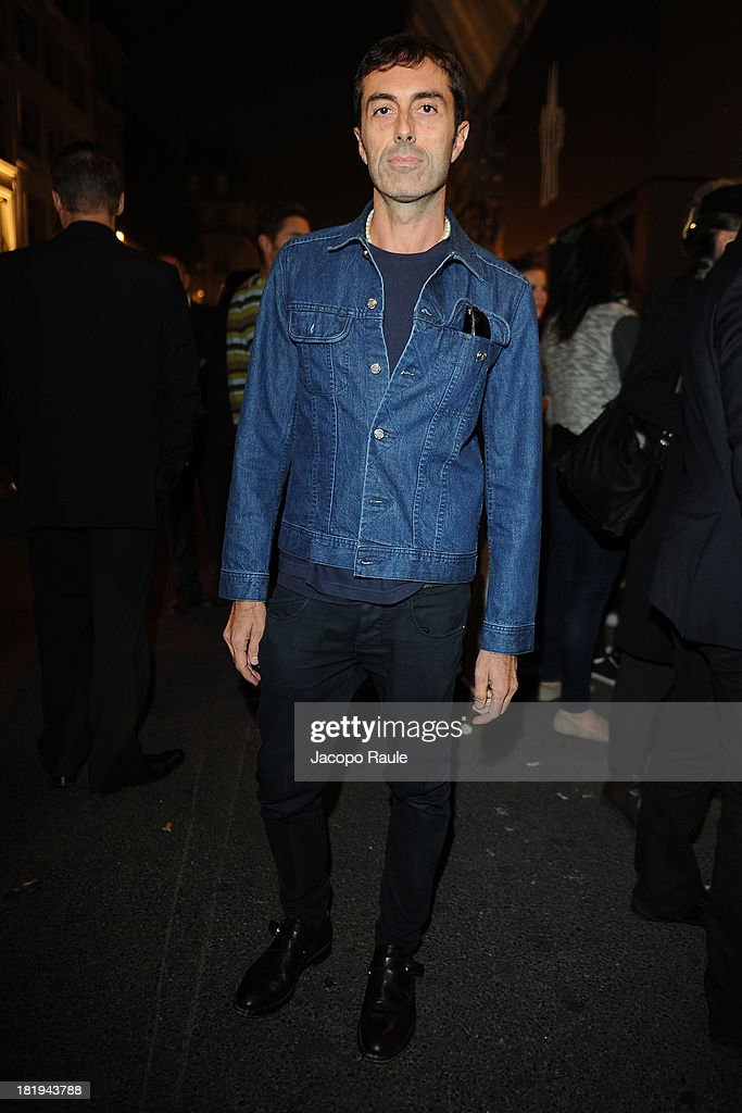 Giambattista Valli arrives at Moncler New Flagship Opening during Paris Fashion Week Womenswear SS14 - Day 3 on September 26, 2013 in Paris, France.