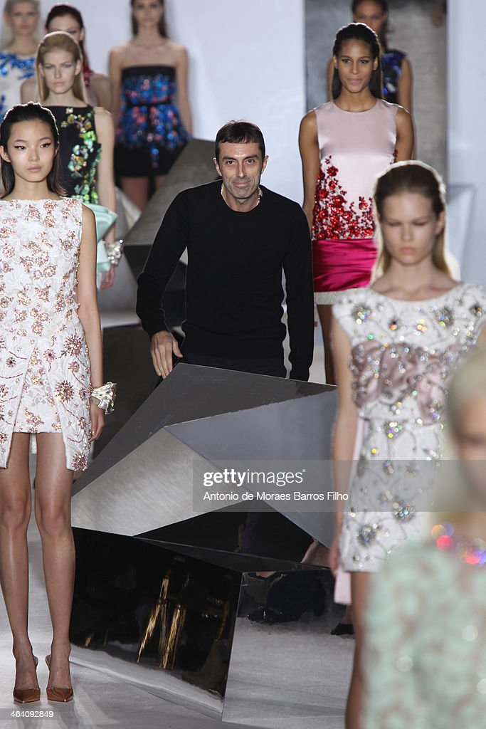 Giambattista Valli l walks the runway during the Giambattista Valli show as part of Paris Fashion Week Haute Couture Spring/Summer 2014 on January 20, 2014 in Paris, France.