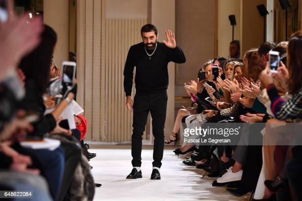 Giambattista Valli walks the runway during the Giambattista Valli show as part of the Paris Fashion Week Womenswear Fall/Winter 2017/2018 on March 6...