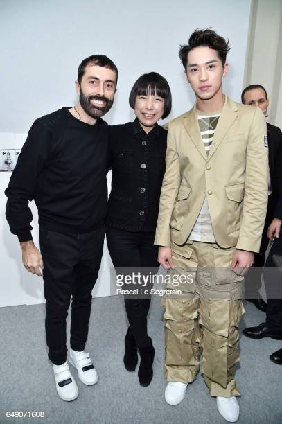 Giambattista ValliAngelica Cheung and Timmy Xu attend the Moncler Gamme Rouge show as part of the Paris Fashion Week Womenswear Fall/Winter 2017/2018...