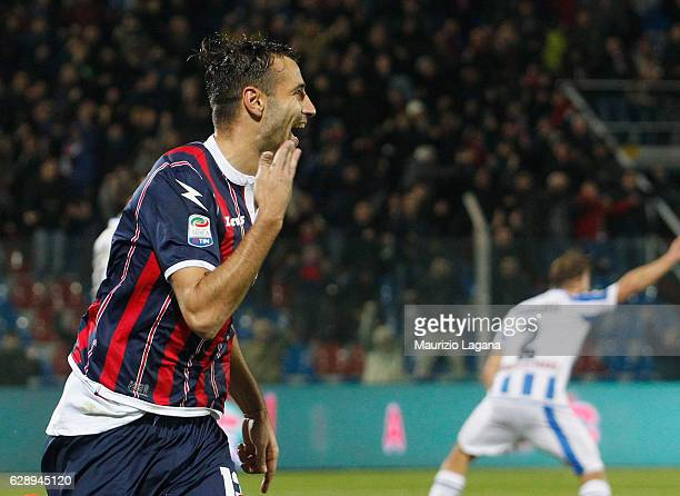 Giammarco Ferrari of Crotone celebrates after scoring his team's winning goal during the Serie A match between FC Crotone and Pescara Calcio at...