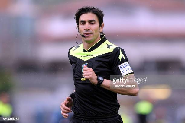 Giampaolo Calvarese referee during the Serie A match between Empoli FC and Bologna FC at Stadio Carlo Castellani on May 7 2017 in Empoli Italy