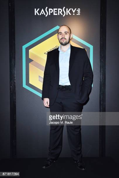 Giampaolo Dedola security researcher GReAT attends Kaspersky Lab 20th Anniversary Party at Area Pergolesi on November 8 2017 in Milan Italy