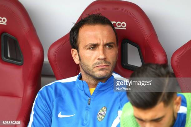 Giampaolo Pazzini before the Serie A football match between Torino FC and Hellas Verona FC at Olympic Grande Torino Stadium on 1 October 2017 in...