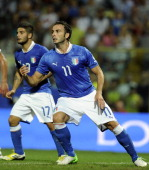 Giampaolo Pazzini of Italy during the FIFA 2014 World Cup qualifier match between Italy and Malta on September 11 2012 in Modena Italy