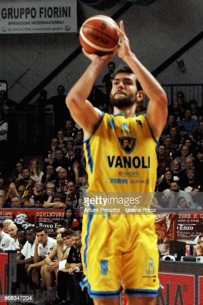 Giampaolo Ricci of Vanoli in action during the LBA LegaBasket of Serie A match between Reyer Umana Venezia and Vanoli Cremona at Palasport Taliercio...