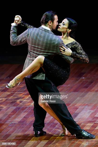 Giampiero Cantone and Francesca Del Buono of Italy dance during the Stage Tango Final as part of Buenos Aires Tango Festival World Championship 2016...