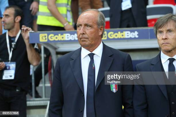 Giampiero Ventura head coach of Italy before the international friendly between Italy and Uruguay at Allianz Riviera stadium on June 7 2017 in Nice...