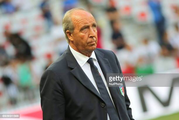 Giampiero Ventura head coach of Italy during the international friendly between Italy and Uruguay at Allianz Riviera stadium on June 7 2017 in Nice...