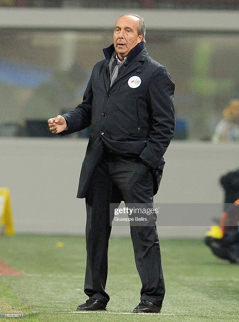 Giampiero Ventura head coach of Torino during the Serie A match between FC Internazionale Milano and Torino FC at San Siro Stadium on January 27, 2013 in Milan, Italy.