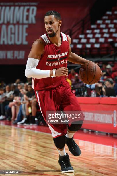 Gian Clavell of the Miami Heat handles the ball against the LA Clippers on July 13 2017 at the Thomas Mack Center in Las Vegas Nevada NOTE TO USER...