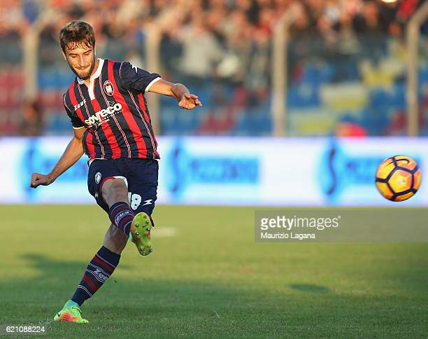 Gian Marco Ferrari of Crotone during the Serie A match between FC Crotone and AC ChievoVerona at Stadio Comunale Ezio Scida on October 30 2016 in...