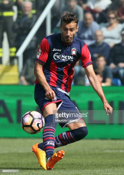 Gian Marco Ferrari of Crotone during the Serie A match between FC Crotone and FC Internazionale at Stadio Comunale Ezio Scida on April 9 2017 in...