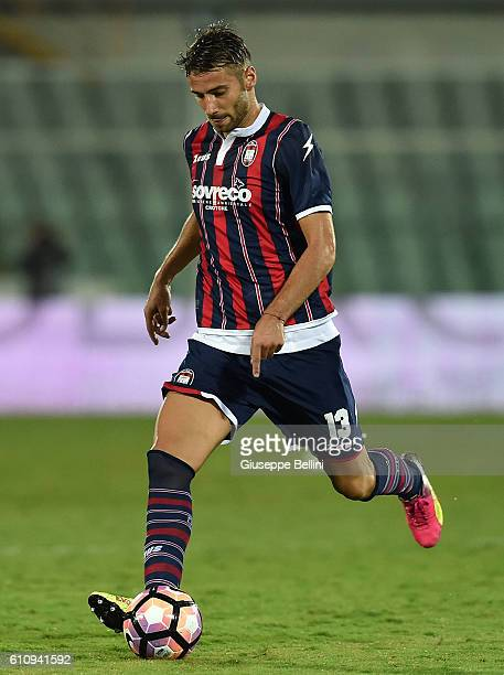 Gian Marco Ferrari of FC Crotone in action during the Serie A match between FC Crotone and Atalanta BC at Adriatico Stadium on September 26 2016 in...