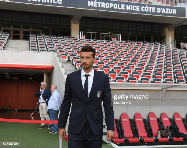 Gian Marco Ferrari of Italy attends Italy walk around at Allianz Riviera Stadium on June 6 2017 in Nice France