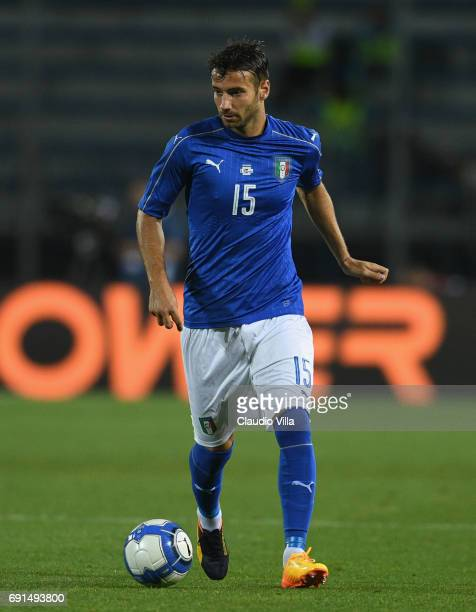 Gian Marco Ferrari of Italy in action during the international friendy match played between Italy and San Marino at Stadio Carlo Castellani on May 31...