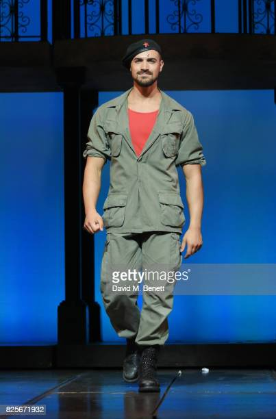 Gian Marco Schiaretti bows at the curtain call during the press night performance of 'Evita' at The Phoenix Theatre on August 2 2017 in London England