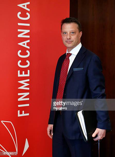 Gian Piero Cutillo chief financial officer of Finmeccanica SpA poses for a photograph ahead of a news conference to announce the company's annual...