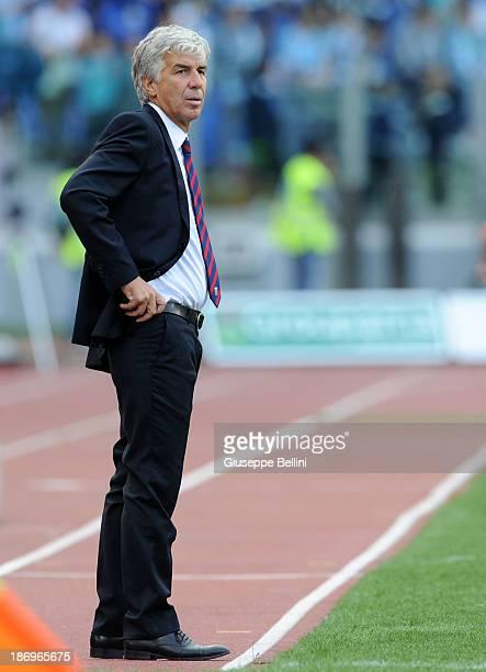 Gian Piero Gasperini head coach of Genoa during the Serie A match between SS Lazio and Genoa CFC at Stadio Olimpico on November 3 2013 in Rome Italy