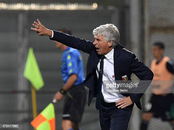 Gian Piero Gasperini head coach of Genoa during the Serie A match between US Sassuolo Calcio and Genoa CFC at Mapei Stadium on May 31 2015 in Reggio...