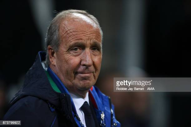 Gian Piero Ventura head coach / manager of Italy during the FIFA 2018 World Cup Qualifier PlayOff Second Leg between Italy and Sweden at San Siro...