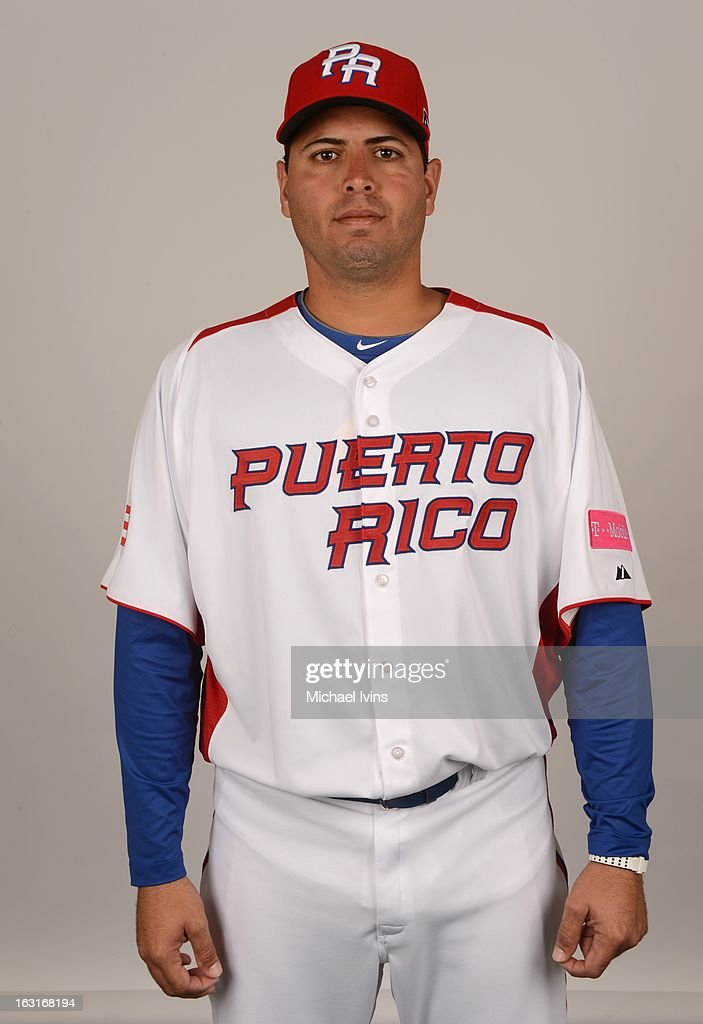 Giancarlo Alvarado #31 of Team Puerto Rico poses for a headshot for the 2013 World Baseball Classic at the City of Palms Baseball Complex on Monday, March 4, 2013 in Fort Myers, Florida.
