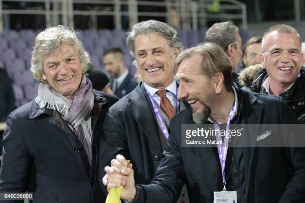 Giancarlo Antognoni Alberto Di Chiara and Marco Nappi former players ACF Fiorentina during the Serie A match between ACF Fiorentina and FC Torino at...
