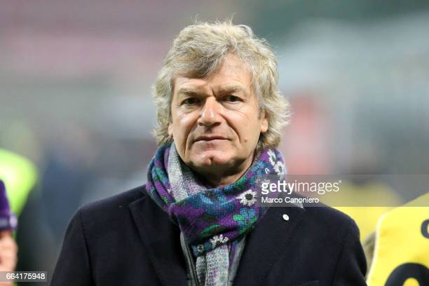 Giancarlo Antognoni manager of ACF Fiorentina during the Serie A match between AC Milan and ACF Fiorentina AC Milan wins 21 over ACF Fiorentina