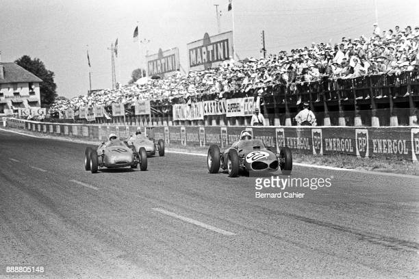Giancarlo Baghetti Dan Gurney Ferrari 156 Porsche 718 Grand Prix of France ReimsGueux 02 July 1961 Three way duel between the Sharknose Ferrari of...
