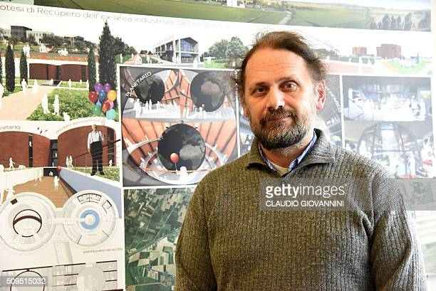 Giancarlo Cella head of research for the INFN Pisa poses at the European Gravitational Observatory hosting the Virgo detector for gravitional waves...