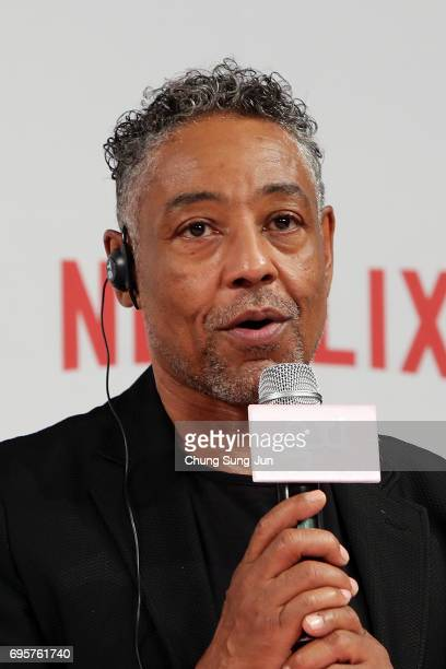 Giancarlo Esposito attends the official press conference after Korea Red Carpet Premiere of Netflix release 'Okja' at the Four Seasons on June 14...