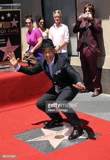 Giancarlo Esposito is honored on the Hollywood Walk of Fame on April 29 2014 in Hollywood California