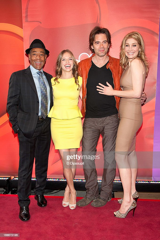 Giancarlo Esposito Tracy Spiridakos Billy Burke and Elizabeth Mitchell attend the 2013 NBC Upfront Presentation Red Carpet Event at Radio City Music...