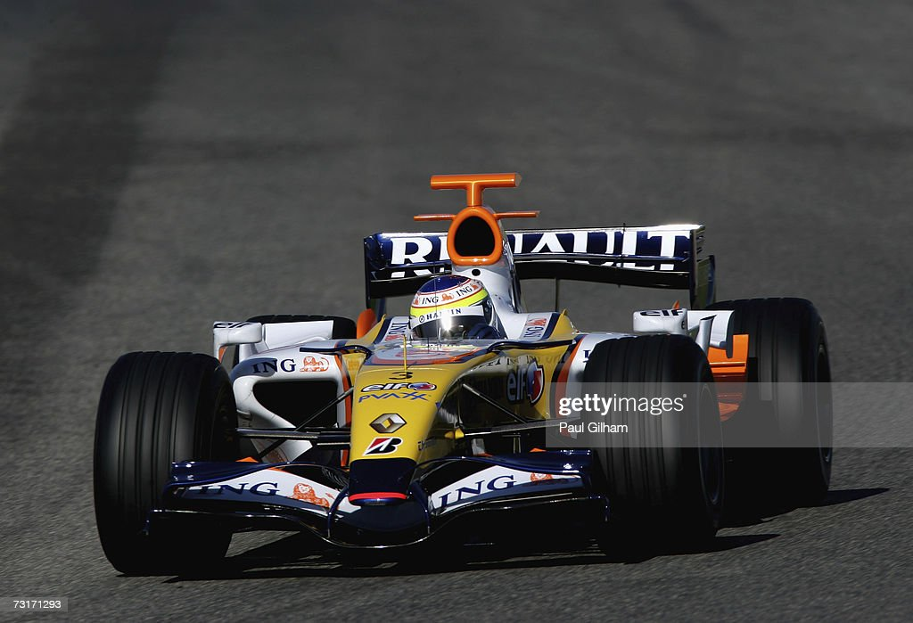 Giancarlo Fisichella of Italy and Renault in action during Formula One testing at the Circuit Ricardo Tormo on February 1 2007 in Valencia Spain