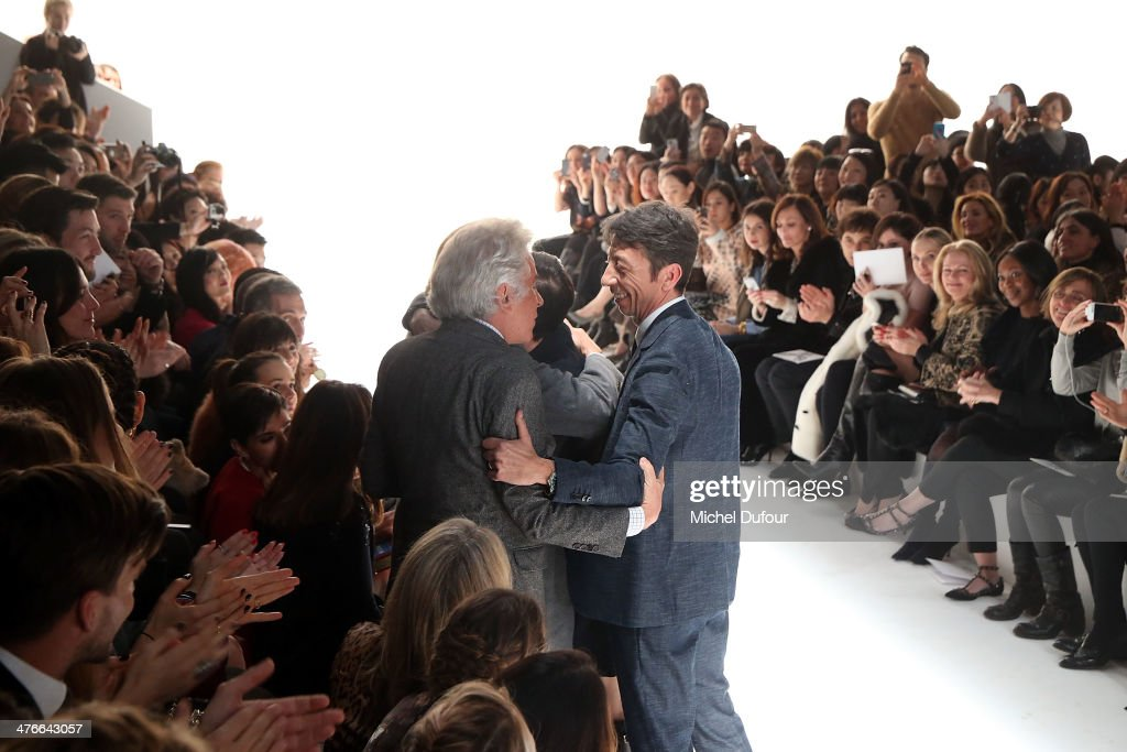 Giancarlo Giametti and Pierpaolo Piccioli walk the runway during the Valentino show as part of the Paris Fashion Week Womenswear Fall/Winter 2014-2015>> on March 4, 2014 in Paris, France.