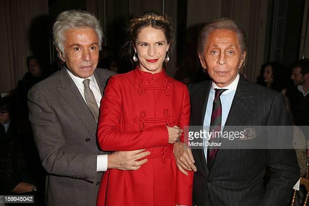 Giancarlo Giametti Eugenie Niarchos and Valentino Garavani attend the Valentino Spring/Summer 2013 HauteCouture show as part of Paris Fashion Week at...