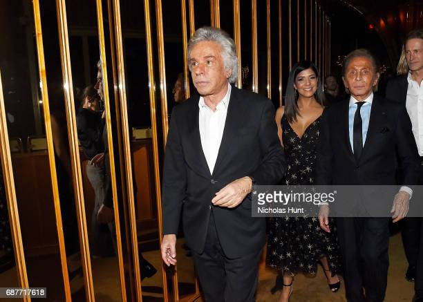 Giancarlo Giammetti and Valentino Garavani attend the Valentino Resort 2018 Runway Show After Party on May 23 2017 in New York City