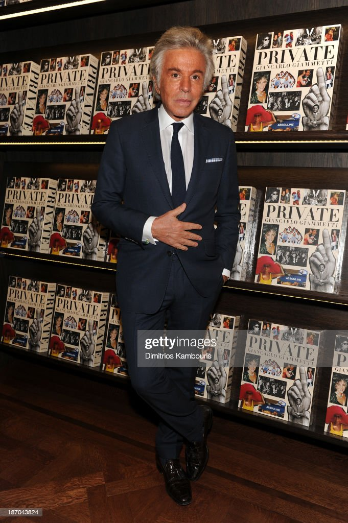 Giancarlo Giammetti attends his book signing for Giancarlo Giammetti's Autobiography 'Private Giancarlo Giammetti,' hosted by Martine and Prosper Assouline at Assouline Boutique at The Plaza Hotel on November 5, 2013 in New York City.