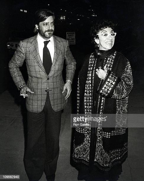 Giancarlo Gianini And Lina Wertmuller during Academy Theater's Party For Foreign Stars March 26 1977 at Academy Theater in Beverly Hills California...
