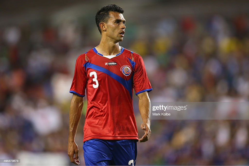 Giancarlo Gonzalez of Costa Rica looks dejected after defeat during the International Friendly Match between Japan and Costa Rica at Raymond James Stadium on June 2, 2014 in Tampa, Florida.