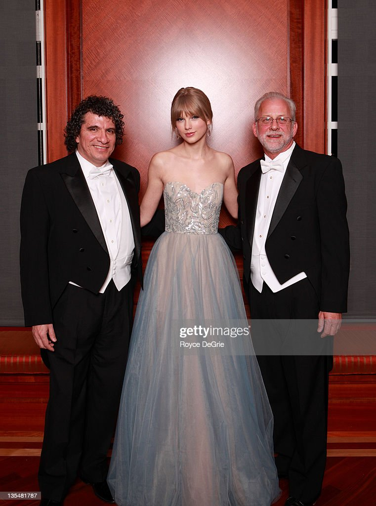 Giancarlo Guerrero, musician <a gi-track='captionPersonalityLinkClicked' href=/galleries/search?phrase=Taylor+Swift&family=editorial&specificpeople=619504 ng-click='$event.stopPropagation()'>Taylor Swift</a>, and Alan Valentine attend the annual Nashville Symphony Ball at the Schermerhorn Symphony Center on December 10, 2011 in Nashville, Tennessee. Swift, a 4-time GRAMMY winner, was honored with the Nashville Symphony's prestigious Harmony Award, recognizing her for exemplifying the unique harmony between the many worlds of music that exist in Nashville, and her significant contributions to the development and appreciation of musical culture. Earlier this month Swift was feted by Billboard magazine as their 2011 Woman of the Year, the youngest artist ever to receive this top honor. Last month she won Artist of the Year at the American Music Awards and was named Entertainer of the Year by the Country Music Association.