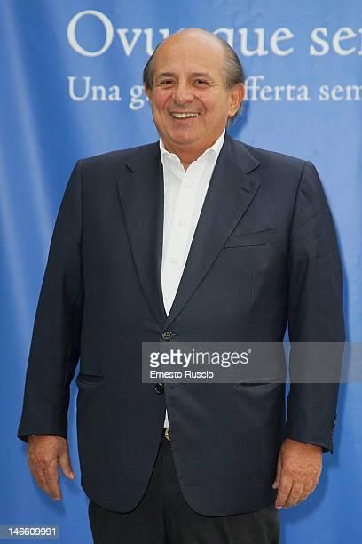 Giancarlo Magalli attends the Palinsesti Rai photocall at Cavalieri Hilton Hotel on June 20 2012 in Rome Italy