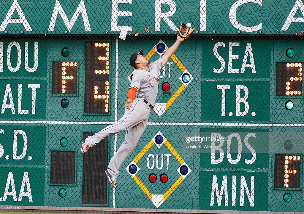 Giancarlo Stanton of the Miami Marlins catches the third out in the second inning during the game against the Pittsburgh Pirates at PNC Park on May...